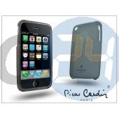 Apple iphone 3g/3gs szilikon hátlap - fekete LMIP3-BK