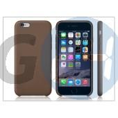 Apple iphone 6 eredeti gyári bőr hátlap - mgr22zm/a - olive brown APL-0164