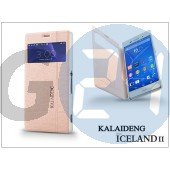 Sony xperia z3 (d6603) flipes tok - kalaideng iceland 2 series view cover - golden KD-0326