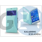 Sony xperia z3 (d6603) flipes tok - kalaideng iceland 2 series view cover - turquoise blue KD-0325