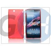 Sony xperia z ultra (c6802) szilikon hátlap - s-line - piros PT-1192