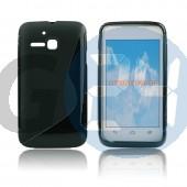 Alcatel ot5020 m pop fekete hullámos szilikontok OT5020  E003963