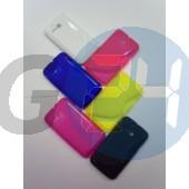 Alcatel ot5020 m pop sárga hullámos szilikontok OT5020  E003968