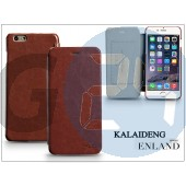 Apple iphone 6 plus flipes tok - kalaideng enland series - brown KD-0298