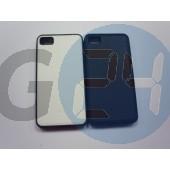 Blackberry z10 bőrös hátlapvédő szilikon széllel fekete Z10  E003595