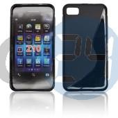 Blackberry z10 fekete hullámos szilikontok Z10  E003536