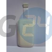 C3/c7/5800/5230/l610 kihúzós fehér bőrtok feliratos C3  E001602