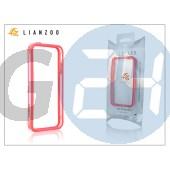 Apple iphone 5 védőkeret - bumper - gecko lianzoo - clear/red GG157