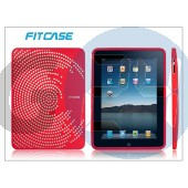 Apple ipad szilikon hátlap - fitcase - red FC058