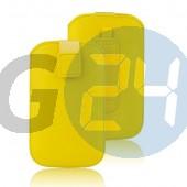 4g forcell egyszínű kihúzós tok citromsárga Univerzális  E004373