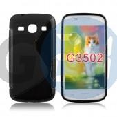 G3500 core plus fekete hullámos szilikontok Galaxy Core Plus G350  E004695
