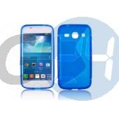 G3500 core plus kék hullámos szilikontok Galaxy Core Plus G350  E004696