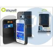 Samsung sm-g130 galaxy young 2 flipes tok kártyatartóval - muvit wallet folio - black I-MUSNS0120