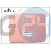 Apple ipad2/ipad3 valódi bőrtok - glööckler function carat - pink PJ12016