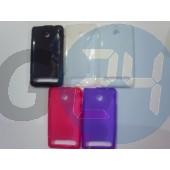 D2105 xperia e1 pink hullámos szilikontok Xperia E1  E005410