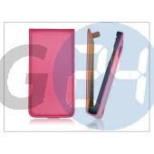 Slim flip bőrtok - sony xperia j (st26i) - pink PT-1009