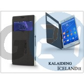 Sony xperia z3 (d6603) flipes tok - kalaideng iceland 2 series view cover - black KD-0327