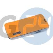 Htc one mini elegant oldaltnyitós tok - bliszteres, narancssárga One mini  E004321