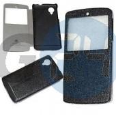 Lg nexus 5 excel kivágott oldaltnyitós tok - fekete Nexus 5  E004838