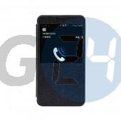N9005 note 3 excel kivágott oldaltnyitós tok - fekete Note3  E004644