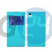 D6503 xperia z2 excel kivágott oldaltnyitós tok - kék Z2  E005619