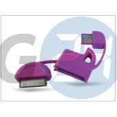Apple iphone 2g/3g/3gs/4/4s/ipad/ipad2/ipod usb kulcstartó adatkábel - magenta HD-CA17MA