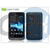 Sony xperia go (st27i) hátlap - case-mate smooth - black CM022203