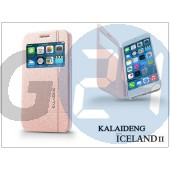 Apple iphone 6 plus flipes tok - kalaideng iceland 2 series view cover - golden KD-0294