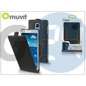 Samsung sm-n910 galaxy note 4 flipes tok képernyővédő fóliával - muvit slim - black I-MUSLI0607
