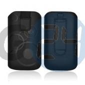 4g forcell egyszínű kihúzós tok fekete karikás iPhone4/4s  E003934
