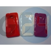 Htc one piros hullámos szilikontok One  E003371