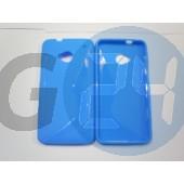 Htc one kék hullámos szilikontok One  E004704