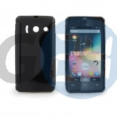 Huawei y300 fekete hullámos szilikontok Y300  E003746
