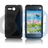 Huawei y320 fekete hullámos szilikontok Y320  E004309