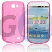 I8730 galaxy express pink hullámos szilikontok Galaxy Express i8730  E004052