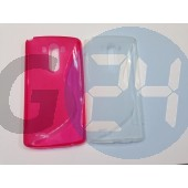 Lg g3 d855 pink hullámos szilikontok G3  E005962