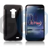 Lg g-flex fekete hullámos szilikontok G Flex  E005095