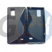 Lg optimus gj fekete hullámos szilikontok Optimus GG E975W  E004003