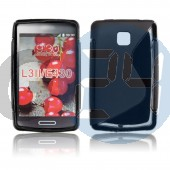 Lg l3 ii fekete hullámos szilikontok LG L3 II  E003517