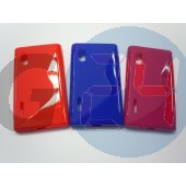 Lg l5 piros hullámos szilikontok LG L5  E003375