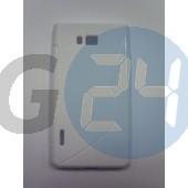Lg l7 fehér hullámos szilikontok LG L7  E003232