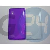 Lg l9 lila hullámos szilikontok LG L9  E004095