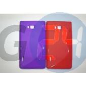 Lg l7 piros hullámos szilikontok LG L7  E003888