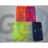 Lumia 520/525 fehér hullámos szilikontok  E004692