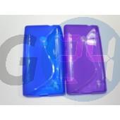 Lumia 520/525 kék hullámos szilikontok  E004712
