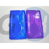 Lumia 520/525 lila hullámos szilikontok  E004711