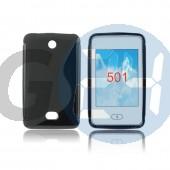 Nokia 501 fekete hullámos szilikontok 501  E005741
