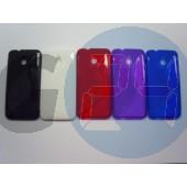 Htc one mini piros hullámos szilikontok One mini  E004154