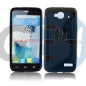 Alcatel 6012 - idol mini fekete hullámos szilikontok OT6012  E005091