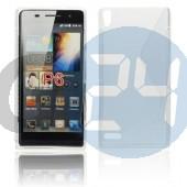 Huawei p6 átlátszó hullámos szilikontok P6  E003882